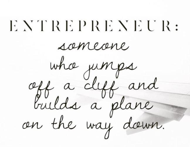 Entrepreneur jumps off a cliff